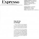 Figura 10 Il settimanale portoghese Expresso in data 6 maggio 1995  titola Video On Line in Portogallo