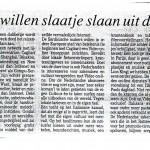 Figura 14 Il quotidiano olandese Rotterdam Dagblad in data 20 maggio 1995 titola Anche ai sardi piace guadagnare con le autostrade digitali