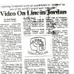 Figura 23 Il settimanale giordano THE STAR in data 4 maggio 1995 titola Video On Line in Giordania