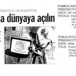 Figura 9 Il settimanale turco NOKTA  in data 30 aprile 1995  titola Video On Line approda in Turchia un semplice tasto e si apre una finestra sul mondo (1)