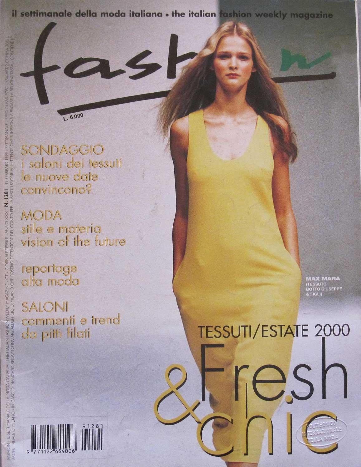 """9) """"Fashion"""" numero 1293 del 18 giugno 1999. 1c361808728"""