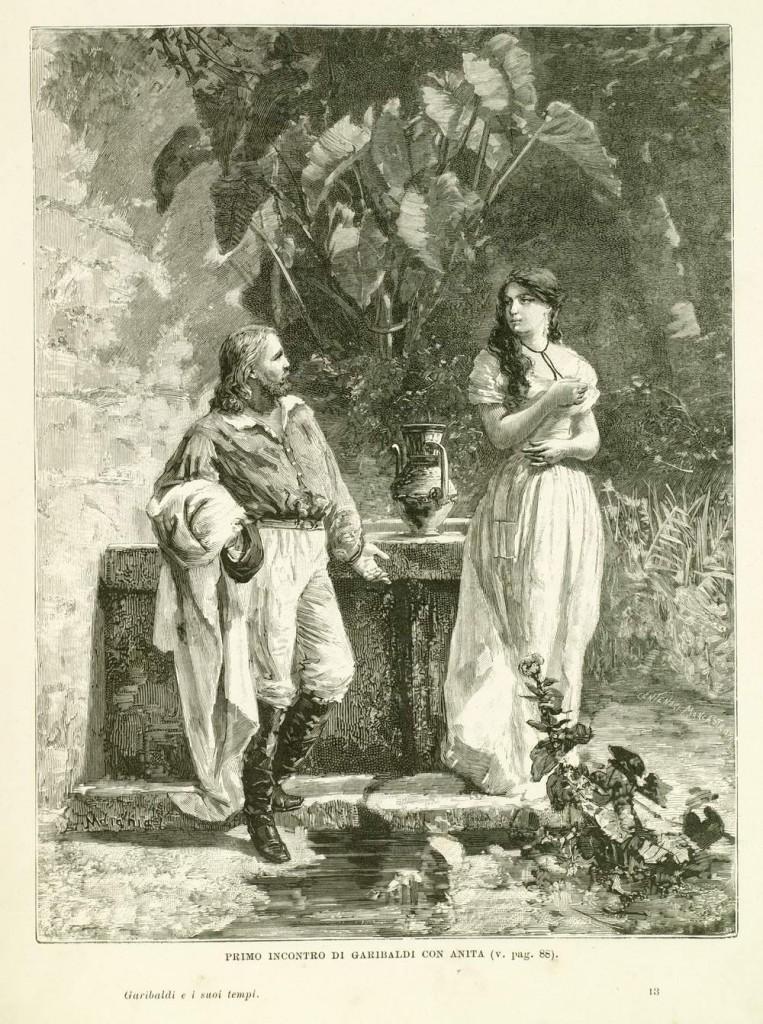 fig. 4 Primo incontro di Garibaldi con Anita