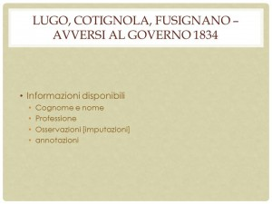 Fig. 9. Composizione del fondo di Lugo, Cotignola e Fusignano.