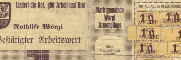 Monete complementari in  Germania, Austria e Svizzera  nella prima metà del Ventesimo secolo.