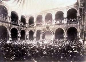 La celebrazione dell'VIII centenario dell'Università, il 12 giugno 1888