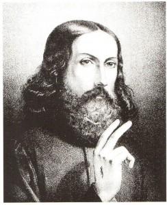 2. Garibaldi, Cristo benedicente, stampa, 1850.