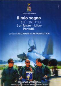 Manifesto per l'ammissione all'Accademia Aeronautica, 2013