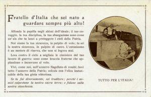 Museo Baracca di Lugo di Romagna, Collezione Enrico Baldini, Cartolina Fratello d'Italia, che sei nato a guardare sempre più alto (n. inv. 620.02)