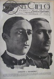 """""""Nel Cielo"""" 13 (25 settembre 1918). Gli aviatori Marziale Cerutti (a sinistra) e Silvio Scaroni"""