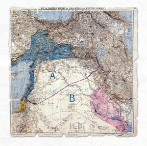 """[FOTO: """"Cartina degli accordi Sykes- Picot"""""""
